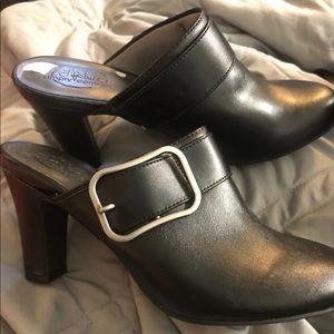 "Black Slip On - Mule Style 3.5"" heel"